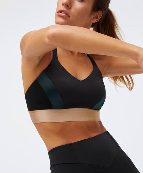 Panel sports bra
