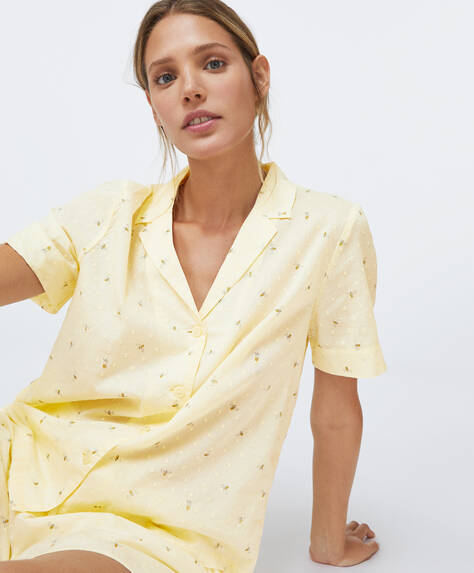 Short-sleeved plumeti bee shirt