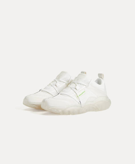 Translucent sole trainers