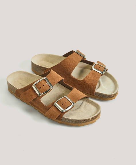Split-leather slides