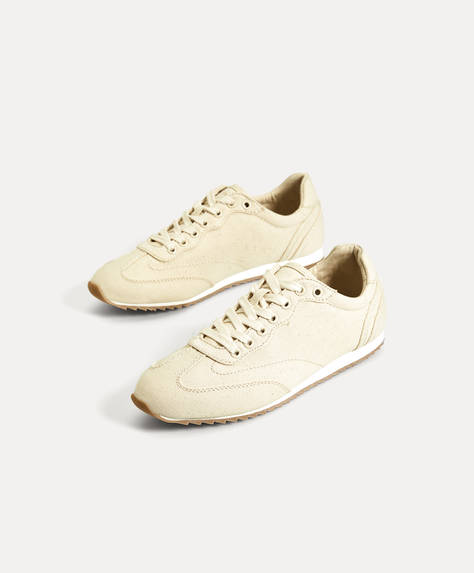 Natural fabric trainers
