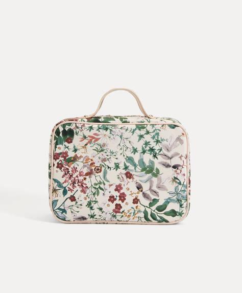 Floral print wash bag