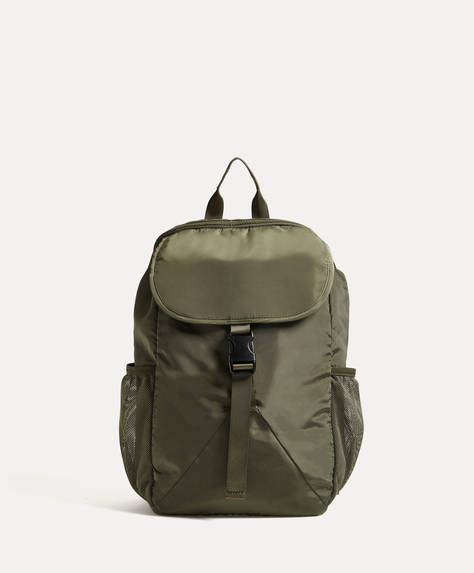 Rucksack with mesh pockets