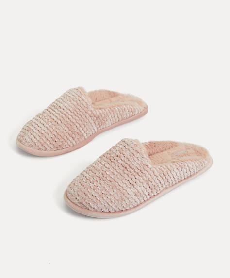 Chenille slippers
