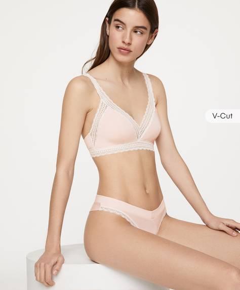 V-cut modal thong