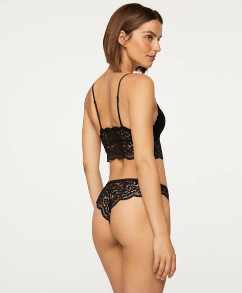 Brazilian lace briefs