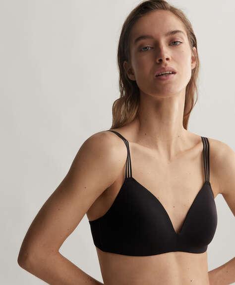 Extra-comfort microfibre bra