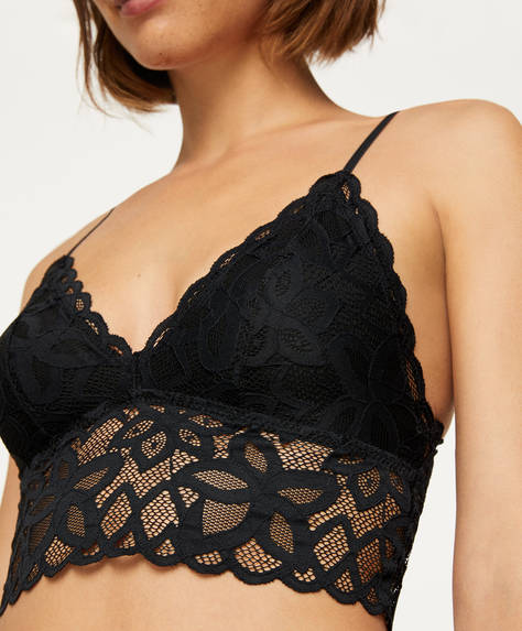 Abstract lace bralette