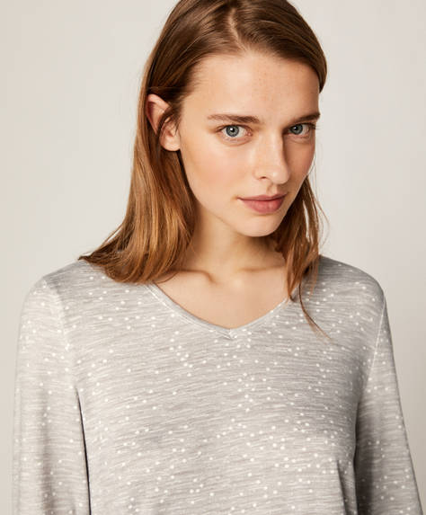 Soft touch ditsy dot T-shirt