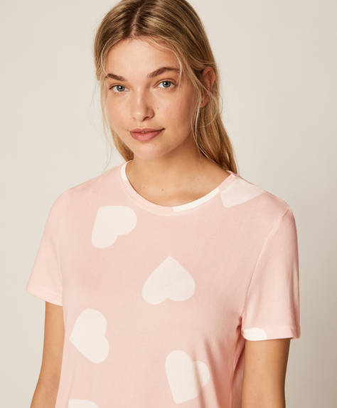 Soft touch heart T-shirt