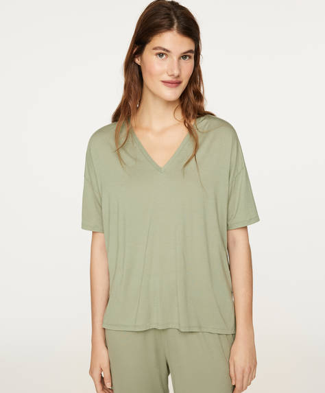 Green soft-touch T-shirt