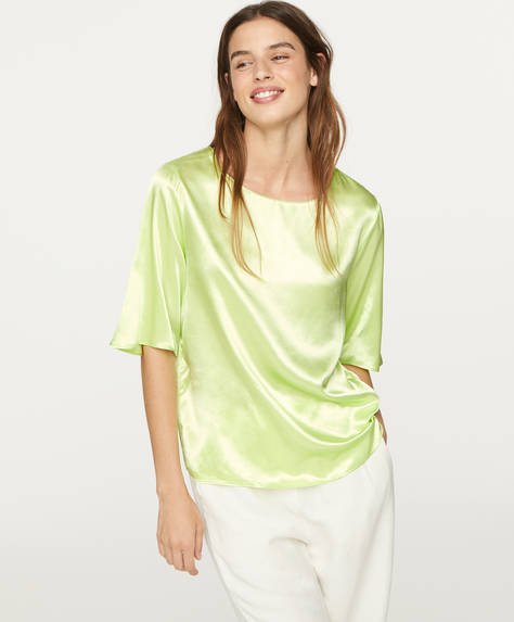 Satin-finish blouse