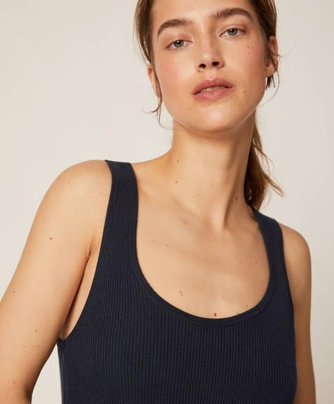 Rib knit vest top
