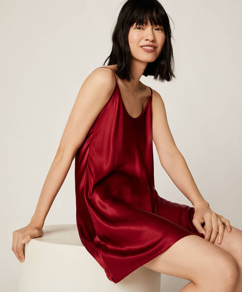 Plain red nightdress