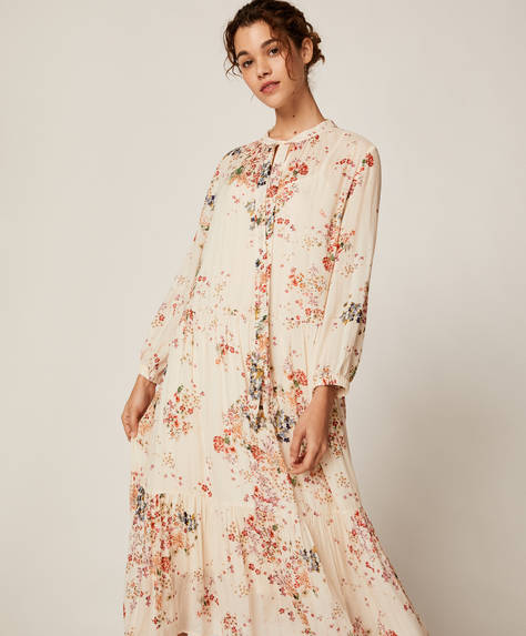 Long multicolour floral dress