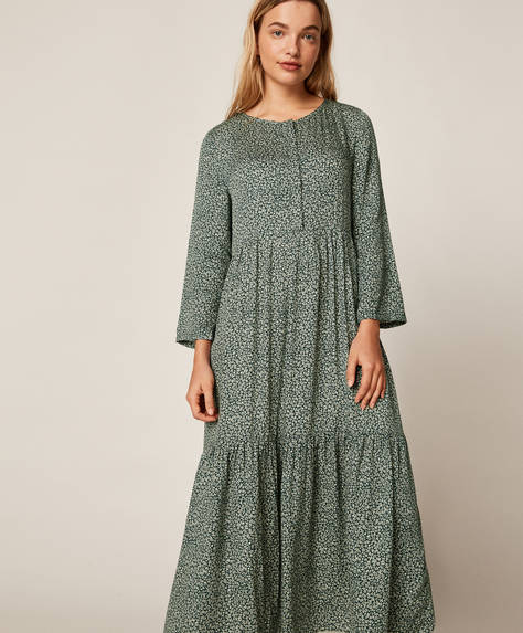 Long ditsy floral nightdress
