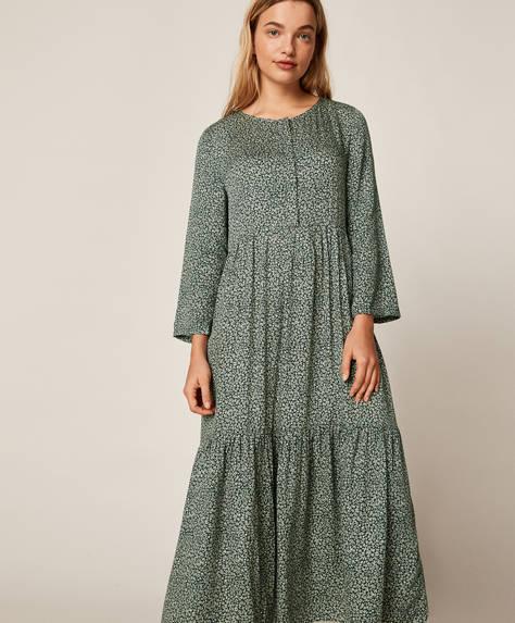 Langes Kleid mit Blümchenmuster