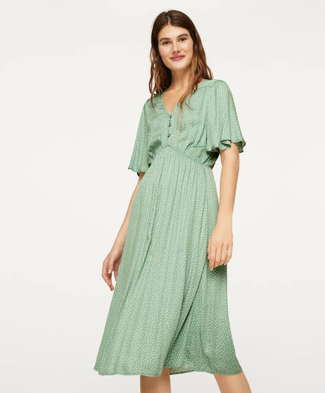 Green polka dot nightdress