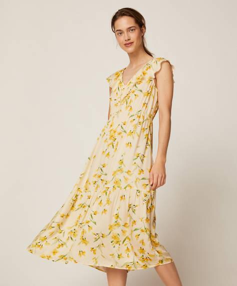 Chemise de nuit à fleurs jaunes
