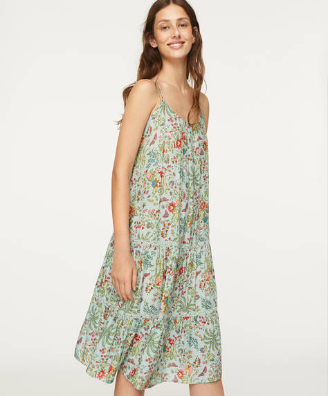 Indian floral strappy dress