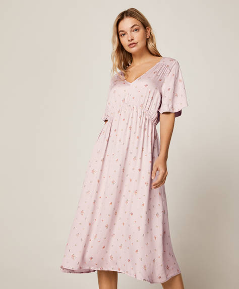 Mauve floral nightdress