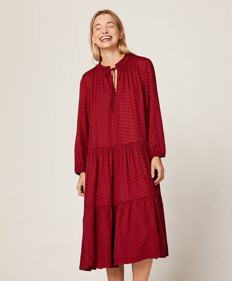 Red polka dot nightdress