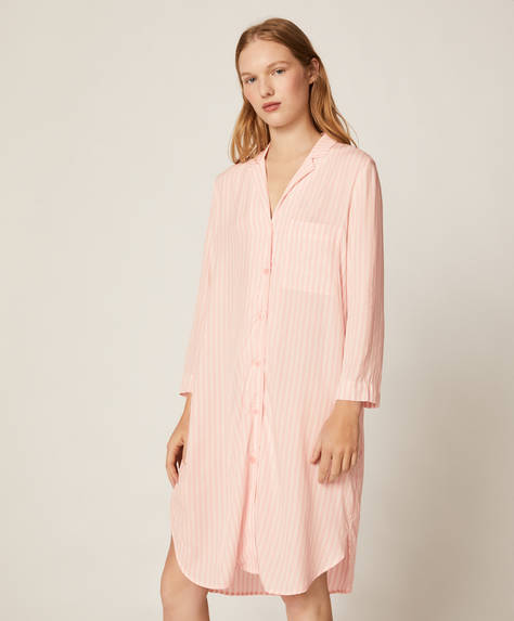 Camisón rayas rosa