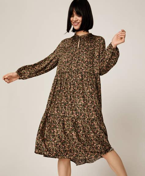 Dense floral pattern dress