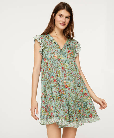Indian floral short dress