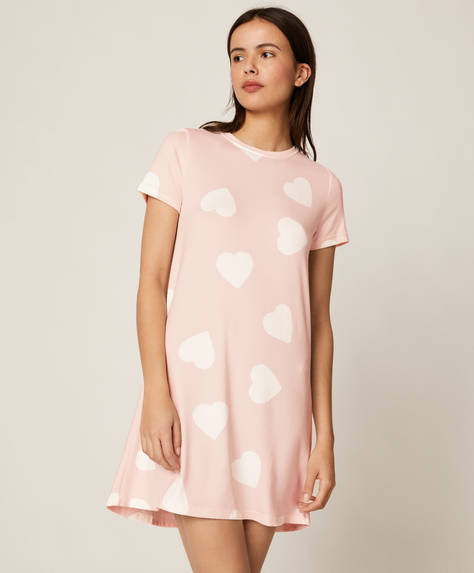 Soft touch heart nightdress