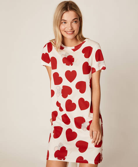 Mouse and heart nightdress