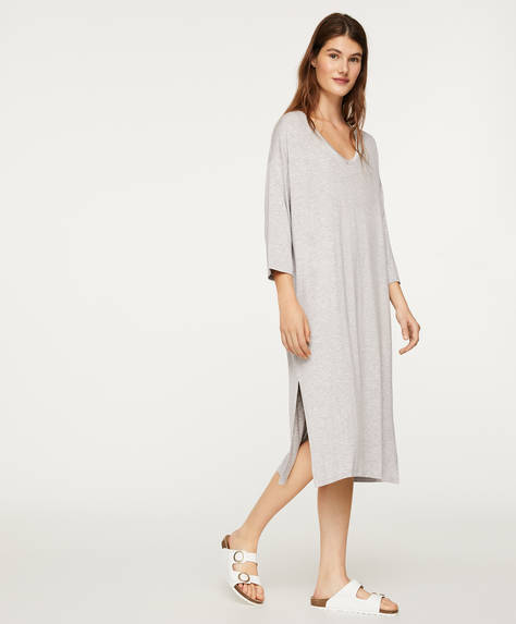 Plain grey nightdress