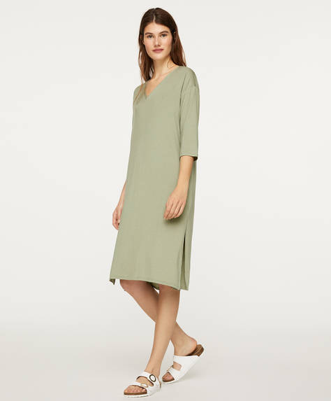 Green soft-touch nightdress