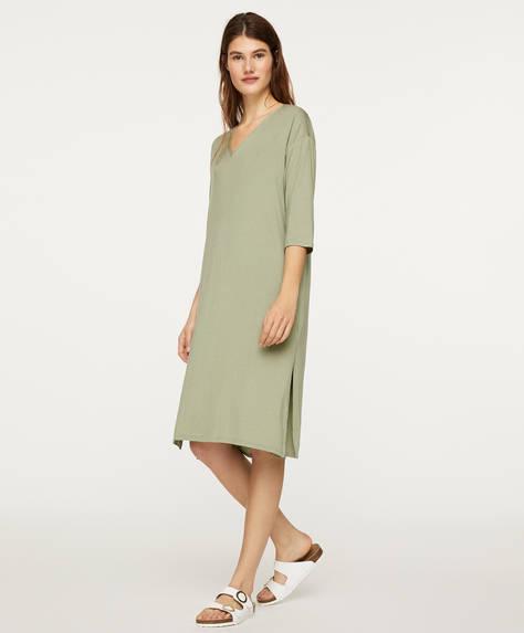 Grøn natkjole med soft-touch