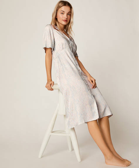 Blue snake print nightdress