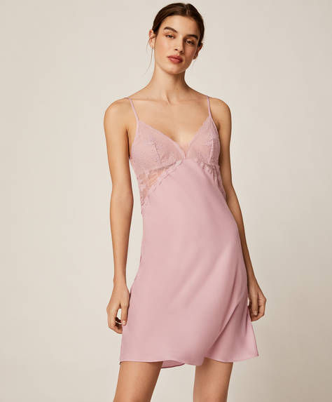Satin and lace nightdress