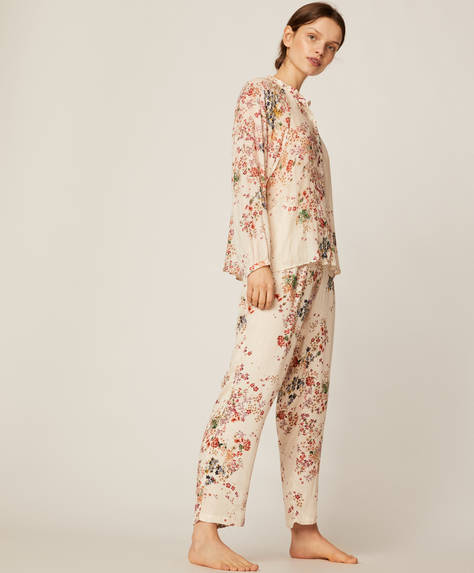 Multicolour ditsy floral trousers