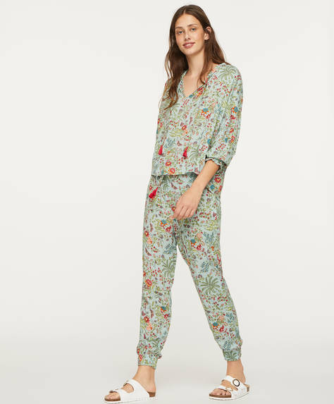 Indian floral trousers