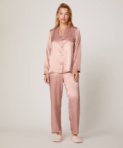 Plain pink trousers