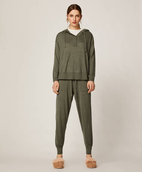 Soft touch knit trousers