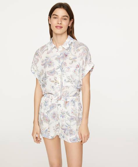 Multicolour paisley shorts
