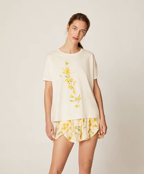 Yellow flower shorts