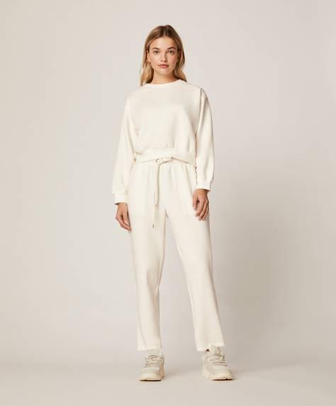 Pantalón largo blanco