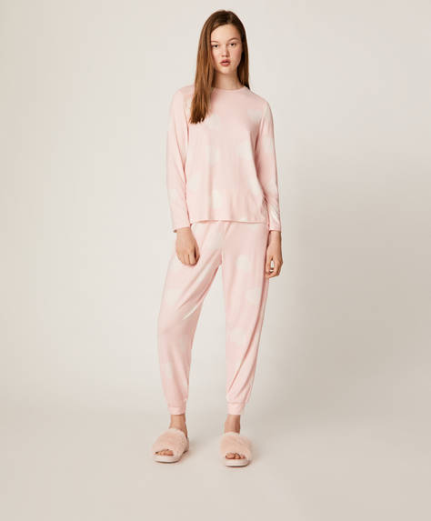 Soft touch heart trousers