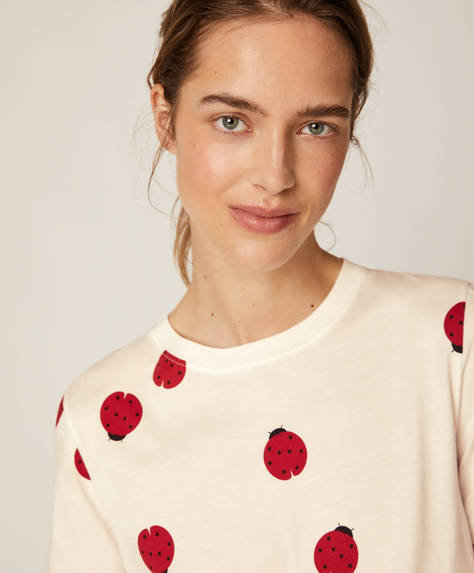 Short-sleeved ladybird T-shirt