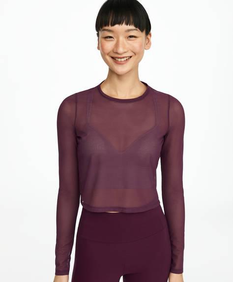 Camiseta mesh transparente