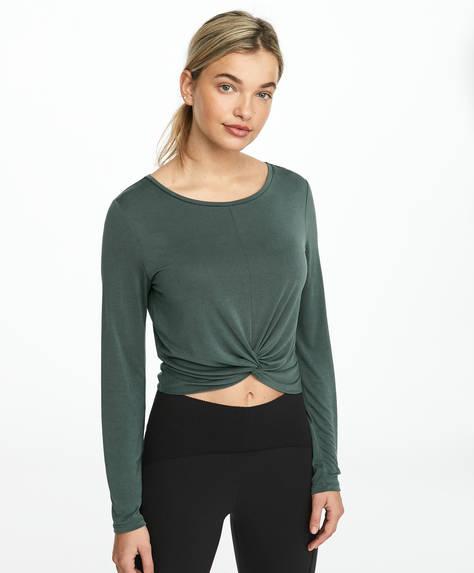 T-shirt avec pli à l'avant en modal
