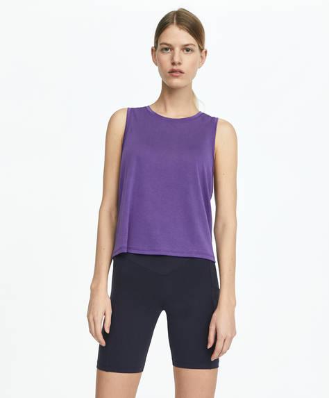T-shirt court violet