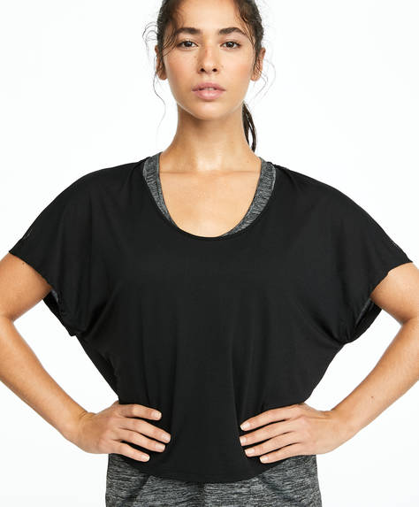 Double-layer recycled polyamide T-shirt
