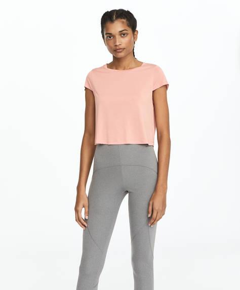 Cropped modal T-shirt
